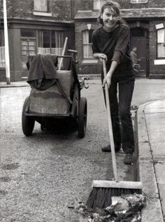 Liverpool street sweeper, 1967.