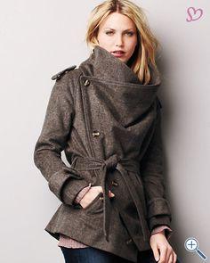 Cuffed Coat by LA Made. Garnet Hill. Loooove.