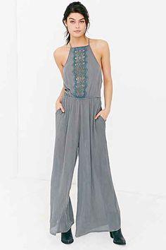 Staring at Stars Grecian Embroidered Jumpsuit - Urban Outfitters