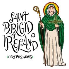 "Catholic Paper Goods on Instagram: ""Saint Brigid of Ireland, ora pro nobis!! . . . . . #orapronobis #saints #catholicsaints #catholicfaith #catholiccoloringpages #catholicart…"""
