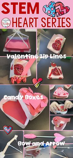 STEM challenges perfect for Valentine's Day. This set features Candy Boxes, Zip Lines, and Bow and Arrows!