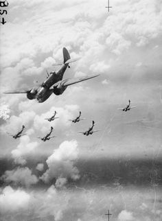 ROYAL AIR FORCE ITALY BALKANS SOUTH-EAST EUROPE 1942-1945 (C 4387)   Martin Baltimores of the Desert Air Force flying in formation on the way to attack German heavy gun positions north-west of Cassino, Italy.