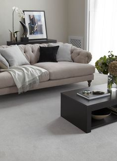 Cormar's Home Counties, colour Silver Cloud.  All Cormar ranges are made in the UK at  mills, based in Lancashire - look out for the British Made logo on our carpet sampling. Cormar Carpets are available throughout the UK and Ireland – for stockist details visit: www.cormarcarpets.co.uk