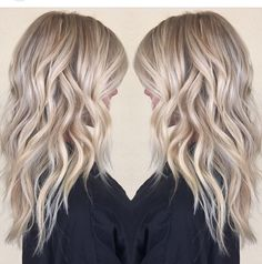 Summer blonde hair