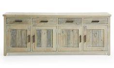 Ador 4 puertas Colonial Hycks   Material: Madera de Abeto   Mueble fabricado artesanalmente con madera de abeto procedente de palets reciclados, acabado envejecido con pintura aplicada a mano en color almendra... Eur:829 / $1102.57