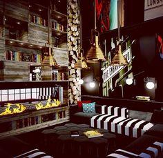 "MFA Jessica Hammet ""Round House"" | #room #hotels #interior #design #patterns #contemporary"
