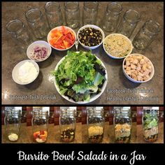 Recreate the flavor of Chipotle without all the extra calories and sodium. Give my Burrito Bowl Salads in a Jar a try for a healthy, tasty, and portable lunch or dinner. To get the recipe go to my like page: https://www.facebook.com/trishzelenakhealthylifestylecoaching/photos/a.541200956025016.1073741829.536049823206796/601003406711437/?type=1&theater