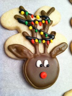Rudolph the Red Nosed Reindeer Christmas Cookies. $30.00, via Etsy.