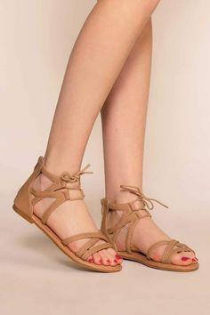 Stylish Sandals, Cute Sandals, Girls Sandals, Lace Up Sandals, Girls Shoes, Women's Leather Sandals, Shoes Women, Tan Sandals, Women's Shoes