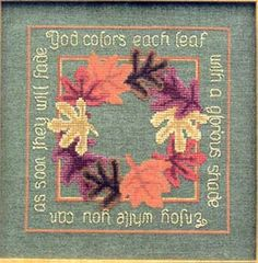 Falling Leaves - Cross Stitch Pattern  by Prairie Grove Peddler  Price: $6.29