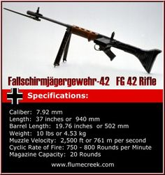 Fg 42 | FG-42 FG42 Fallschirmjagergevehr 42 Paratrooper's rifle, model 1942 another beautiful example of German engineering