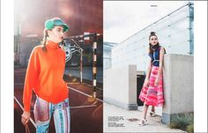 The embroidered jeans and skirt by my design were used in a great session and published in Elegant Magazine.
