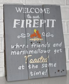 Summer is almost here, and that means, Friends, Fire, Drinks, and Marshmallows! Add a little fun to your deck, or fire pit with this fun wooden sign!! This makes a great house warming gift too!