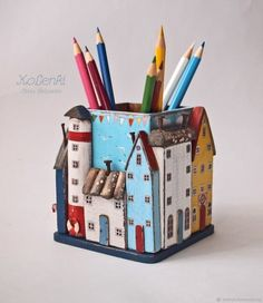 Diy Home Crafts, Clay Crafts, Creative Crafts, Crafts For Kids, Arts And Crafts, Cool Paper Crafts, Wooden Crafts, Clay Art Projects, Wood Projects