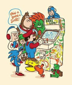 And we think some video games suck. Retro game characters play 'Real Life.'