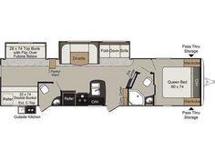 2 bedroom/2 bath 5th Wheels and Travel Trailers | RV | Pinterest
