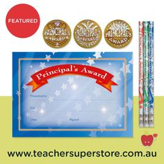 FEATURED: Principal's Merit Award Bundle A selection of Principal's Merit Award stickers, pencils and certificates. Great for end of year awards or stock up ready for the 2021 school year. View the pack online.