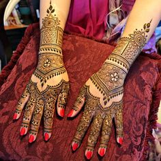 With the first line of Mehendi, she forgot her troubles and delved into the beautiful world of checkered patterns and intricate lines.