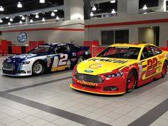 Brad Keselowski's and Joey Logano's @Ford Racing Fusions.