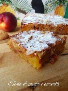 Torta di pesche e amaretti Italian Bakery, Italian Desserts, Italian Recipes, Sweet Recipes, Cake Recipes, Dessert Recipes, New Cooking, Cooking Recipes, Torte Cake