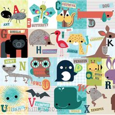 I have a thing for animal alphabets. This has to be one of the best I've seen.  :cD