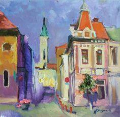 "Saatchi Art Artist Anastasiia Grygorieva; Painting, ""Cluj-Napoka.Romania"" #art"