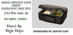 Sentry Safe Small Privacy Lock Chest Giveaway