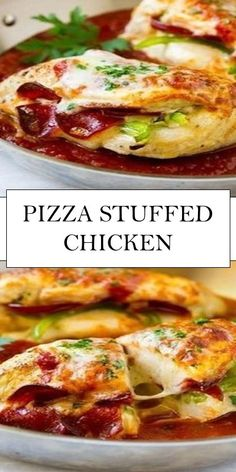 WMF Cutlery And Cookware - One Of The Most Trustworthy Cookware Producers Pizza Stuffed Chicken Recipe Stuffed Chicken Breast Baked Chicken Breast Easy Chicken Recipe Baked Chicken Recipes, Turkey Recipes, Meat Recipes, Cooking Recipes, Healthy Recipes, Chicken Treats, Recipe Chicken, Recipies, Easy Chicken Fillet Recipes