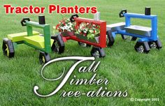 tractor planter plans for sale - All For Garden Landscape Timber Crafts, Landscape Timbers, Woodworking Supplies, Woodworking Plans, Woodworking Projects, Woodworking Classes, Woodworking Apron, Woodworking Machinery, Woodworking Workshop