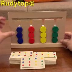 Training Kids Double Sided Matching Game Wooden Toy - In the first months . - Training Kids Double Sided Matching Game Wooden Toy – In the first few months, your baby will pre - Games For Kids, Diy For Kids, Best Toys For Kids, Diy And Crafts, Crafts For Kids, Stick Crafts, Adult Crafts, Wood Games, Montessori Toys