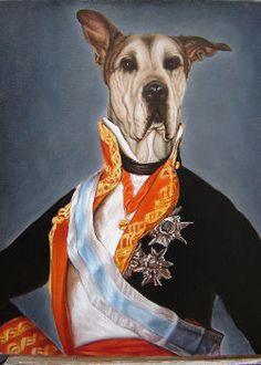 retratos de perro dobo