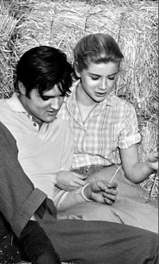 """Elvis Presley and Dolores Hart in """"Loving You"""""""