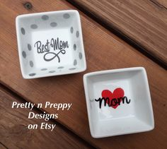 Ring dish, jewerly dish, gift for mom, jewerly storage, earring dish by PrettynPreppyDesigns on Etsy Mom Jewelry, Jewelry Dish, Simple Jewelry, Ring Holders, Five Little, Little Elephant, Ring Dish, Pick One, Best Mom