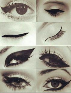 different types of eyeliner looks