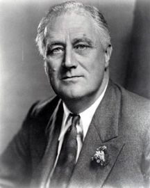 "Franklin Delano Roosevelt: A four term-president, Roosevelt used the news media in a variety of ways to gain and hold onto the presidency for more than a decade, from the Great Depression through World War II. By using ""fireside chat"" radio addresses, he was able to speak directly to the American people, avoiding the editorializing of newspaper editors who disagreed with his policies. Source: Daily Mirror, Nov. 8, 1944"