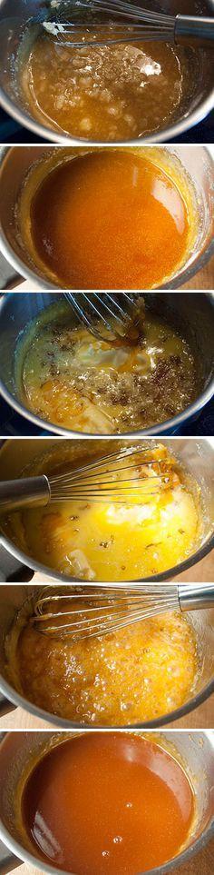 Schritt für Schritt Anleitung zur Herstellung von Karamellsauce