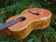 Ohana Redwood/Myrtle Tenor Limited series $370. Ukulele makers seem to experiment with woods more than guitar makers. Redwood Top and Myrtle back and sides.