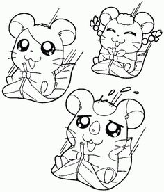 Hamtaro, Line Art, Coloring Pages, Snoopy, Kawaii, Fictional Characters, Quote Coloring Pages, Line Drawings, Kids Coloring