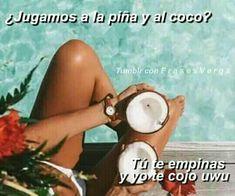 Funny Spanish Memes, Spanish Quotes, Spanish Humor, Cute Love Memes, Funny Love, Romantic Humor, Memes Lindos, Funny Quotes, Life Quotes