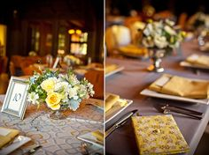yellow centerpieces   Beautiful Day Photography