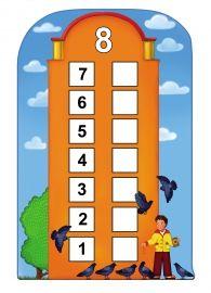 Восемь. Числовой домик. Состав числа