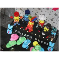 Village Peeps - last seen on a Longaberger trip to the Atlantis...oh, wait Village People they were.... this is the 2012 version!