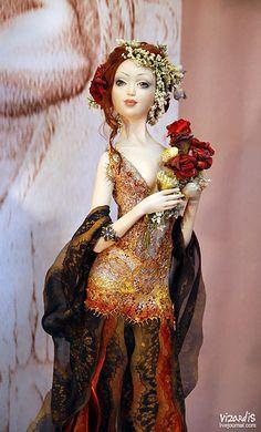 Art doll by Happydolls, Clay Dolls, Bjd Dolls, Barbie Dolls, Pretty Dolls, Beautiful Dolls, Paperclay, Dollhouse Dolls, Ball Jointed Dolls, Doll Face