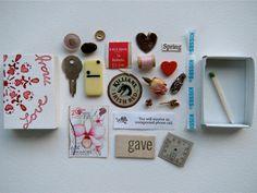 love may matchbox treasure by artinredwagons on Etsy