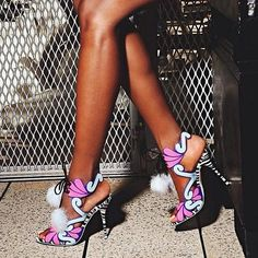 Give a girl the right shoes and she can conquer the world – Marilyn #ModelCo #SophiaWebster #TannedPins #ModelCoTan