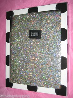 Victoria's Secret Pink Bling Silver Glitter Apple iPad Cover Case Sleeve