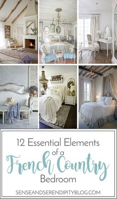 Vintage Bedroom 12 Essential Elements of a French Country Bedroom - Creating a beautiful French country style bedroom doesn't have to be hard. Incorporate these 12 essential elements to your room to create the look! French Country Colors, French Country Bedding, Modern French Country, French Country Kitchens, French Country Bedrooms, French Country Farmhouse, French Country Decorating, French Cottage, Bedroom Country