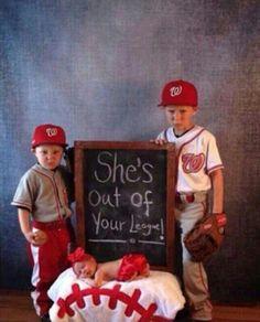 #baseballphoto #newbornphoto #siblingphoto