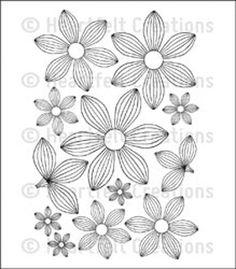 "Heartfelt Creations Cling Rubber Stamp Set 5""X6.5""-Striped Sun Kissed Fleur"