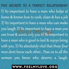 FIVE SECRETS TO A PERFECT RELATIONSHIP